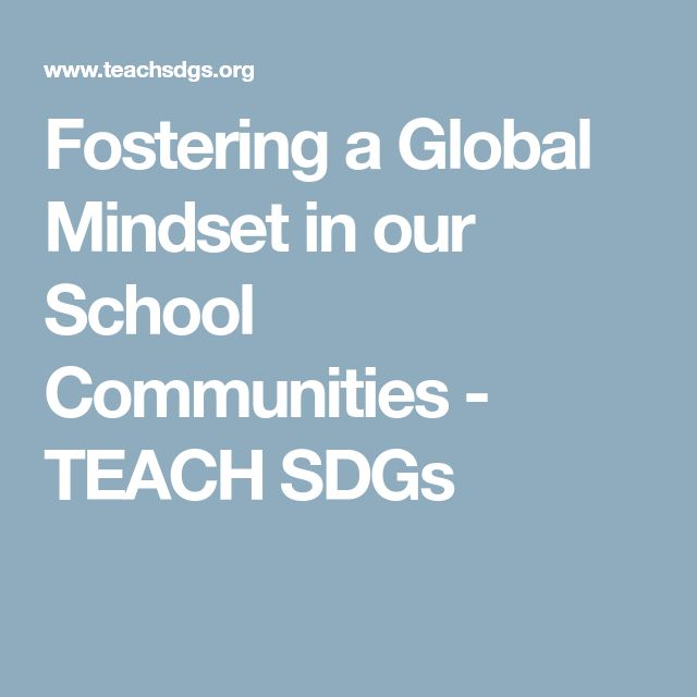 Fostering a Global Mindset in our School Communities - TEACH SDGs