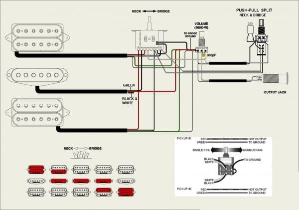 Simple Les Paul Wiring Diagram from i.pinimg.com