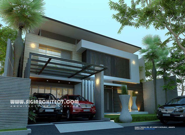 rumah-mewah-2-lantai-kolam-renang modern minimalis