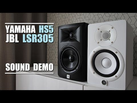 Yamaha HS5 vs JBL LSR305 || Sound Demo w/ Bass Test