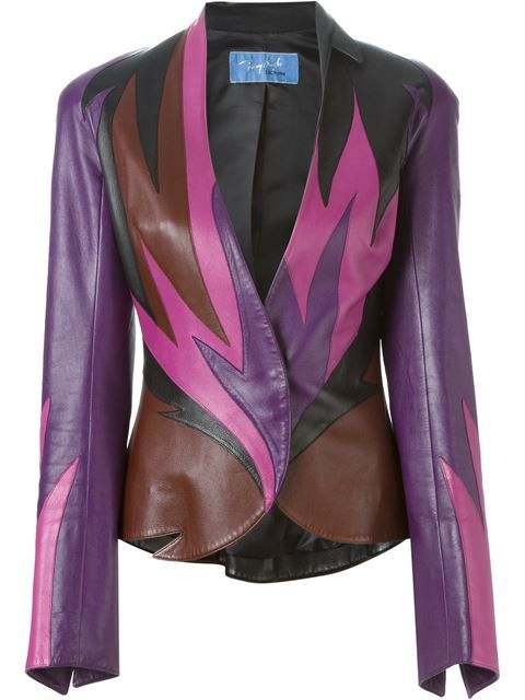 Thierry Mugler Vintage flame leather jacket