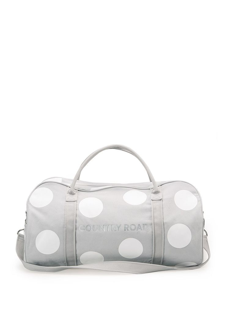 country road | spot tote. pale grey
