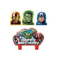 Let's Party With Balloons - Avengers Assemble Birthday Candle Set, $14.00 (http://www.letspartywithballoons.com.au/avengers-assemble-birthday-candle-set/)