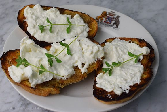 Next time you are planning what to grill, factor in an appetizer to snack on while you grill- this burrata on sourdough is delicious~ (panini machine works well too for this). on www.CourtneyPrice.com