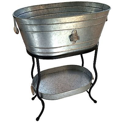 New Galvanized Metal 9 25 Gal Beverage Tub Ice Party