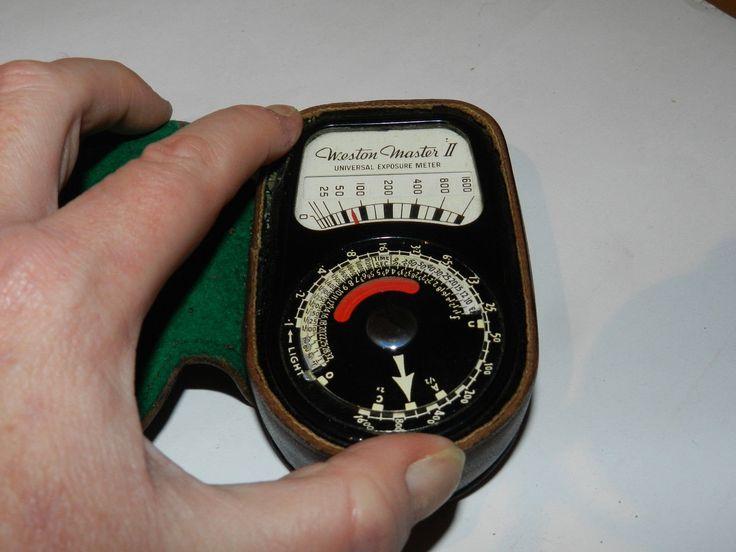 Weston Master II Universal Exposure Meter Model S141/735 With Manuals - 1951