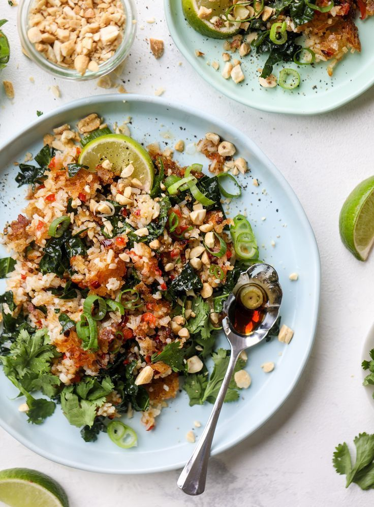 Crispy Rice Salad Crispy Rice Salad With Kale And Peanuts Recipe Healthy Salad Recipes Salad Recipes For Dinner Easy Healthy Dinners
