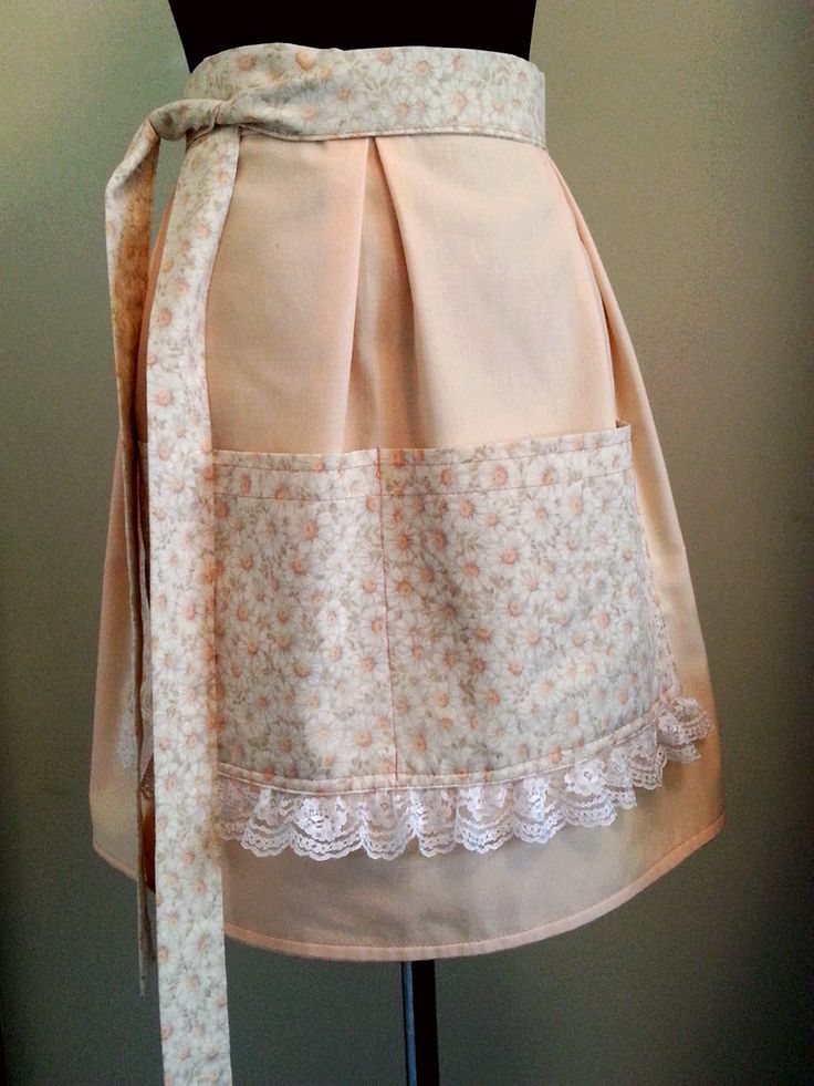 Pink Galah Serving Apron 'Peach Daisy'