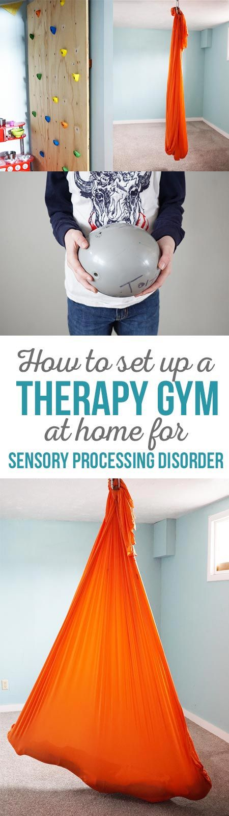 Therapy Gym for SPD -What you need to set up a therapy gym at home for sensory processing disorder.