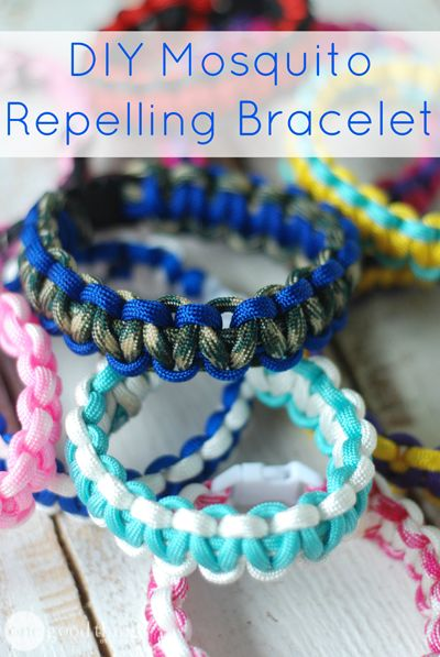 DIY Mosquito Repelling Bracelet | How to make a paracord bracelet + a recipe for essential oils to soak it in.