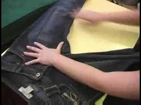 How to Fold Shirts & Pants : Folding Jeans