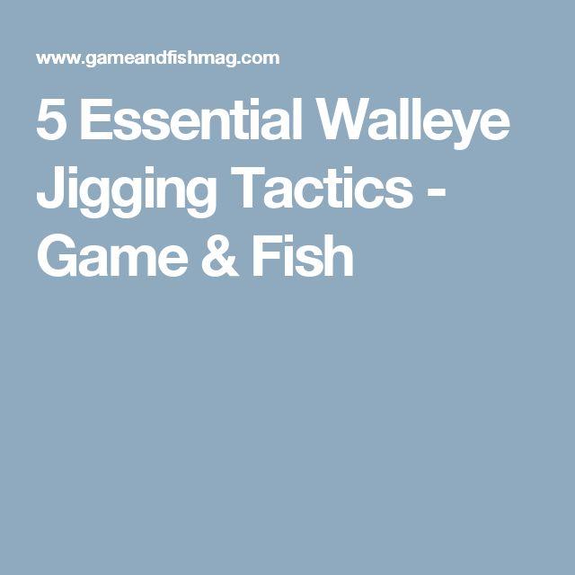 5 Essential Walleye Jigging Tactics - Game & Fish