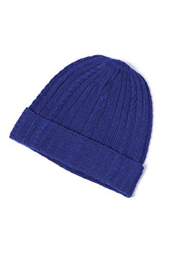 Fishers Finery 100 % Pure Cashmere Cable Knit Hat, Super ...
