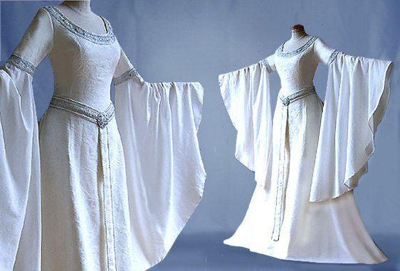 Elfenkleid Brautkleid ARLIA Herr der Ringe Arwen di Elfenkleider