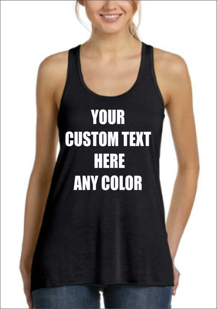 Custom Tank Top Personalized in any Texts-Colors  , Fun Gift Top Seller , Workout Gym Racerback Tank Top by SuperTeesandHats on Etsy https://www.etsy.com/listing/219594831/custom-tank-top-personalized-in-any