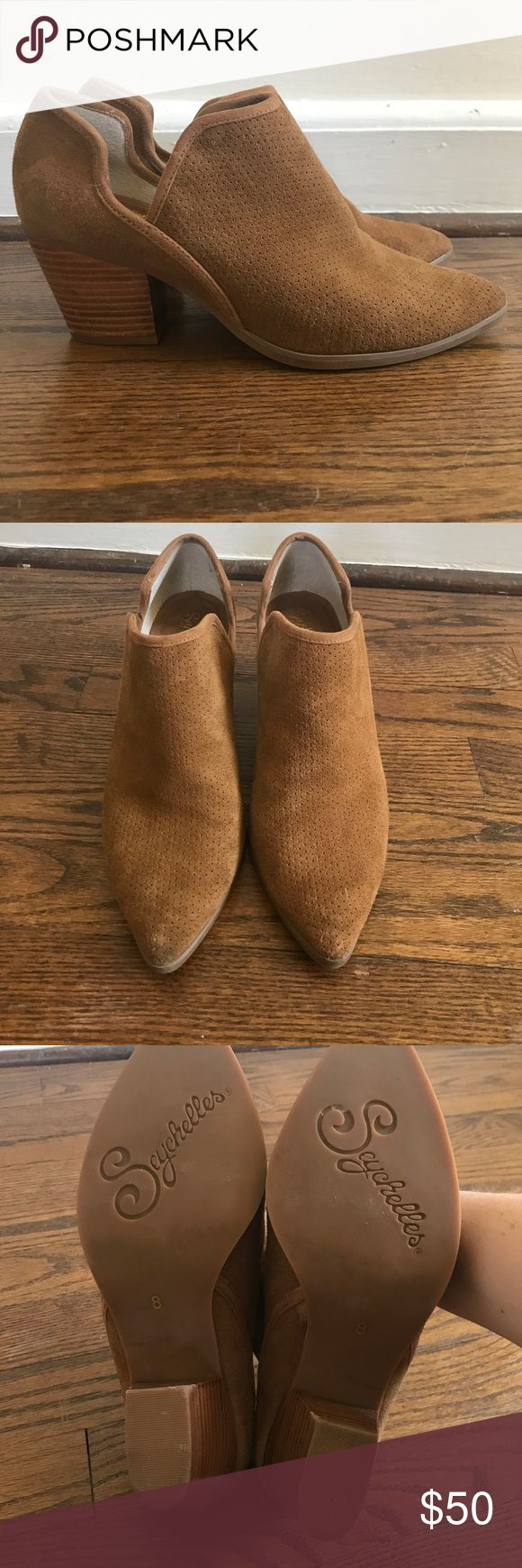 Seychelles from Anthropologie brown booties Little brown booties worn once. Perforated suede, super comfortable! Seychelles Shoes Ankle Boots & Booties
