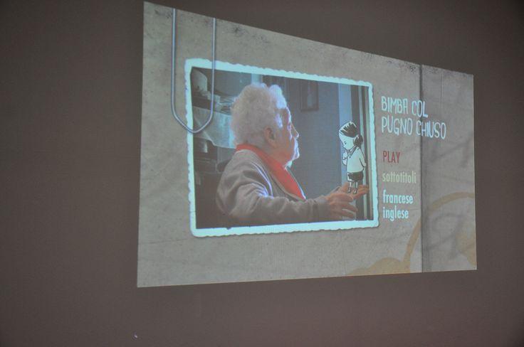 """""""La bimba con il pugno chiuso"""", Casa delle donne, via Maggiore 120 Proiezione del documentario animato e incontro con Maurizio Ribichini e uno dei tre registi, Luca Mandrile. http://www.komikazenfestival.org/photo/"""