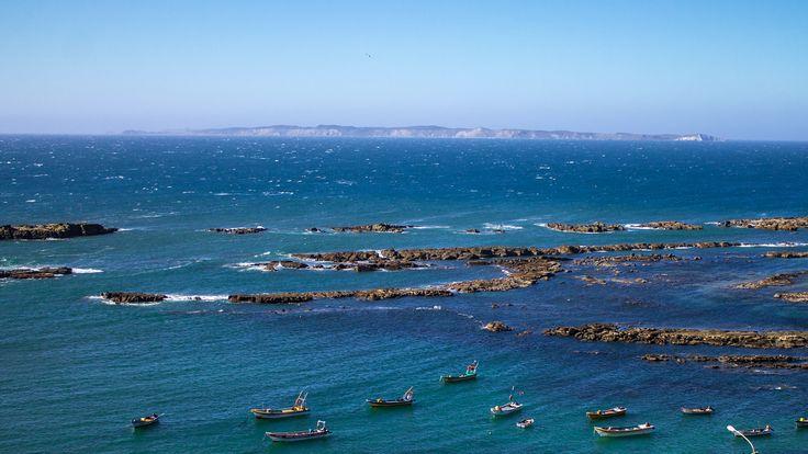 Isla Santa María desde Punta Lavapie en Arauco. Foto de Michael Pereira Pereira.