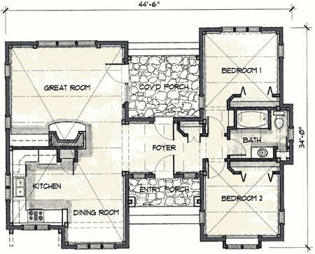 Timber frame house plans mill creek post beam company 1029 sq ft