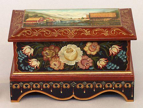 Norwegian Rosemaled Box
