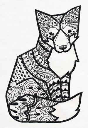 Doodle Fox design (UT7935) from UrbanThreads.com