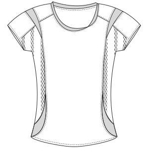 Patronaje industrial: patrones moldes ropa para marcas de nivel mundial Remera 2994 DAMA Remeras