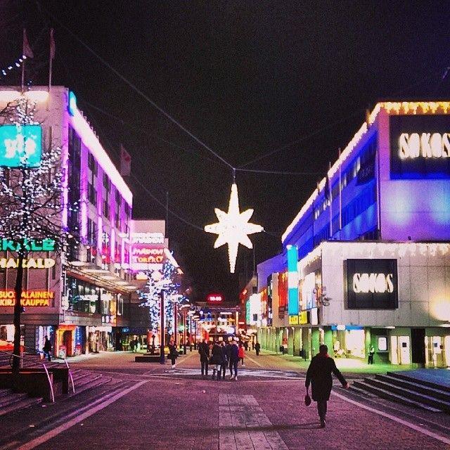 Jyväskylä city center in Finland. It s beginning to look a lot like Christmas~♪ by @lottimus on Instagram