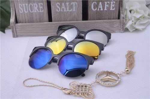 Round-Circle-Glasses-Semi-Rimless-Sunglasses-Retro-Design-w-UV400-Protection