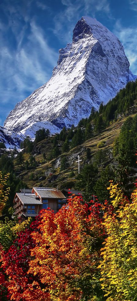 The #Matterhorn from Zermatt, Switzerland (by Daniel)