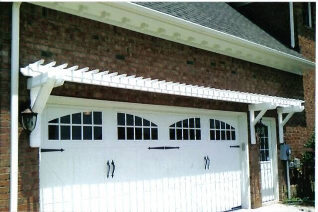 30 best images about garage doors on pinterest arbors for Eyebrow pergola plans