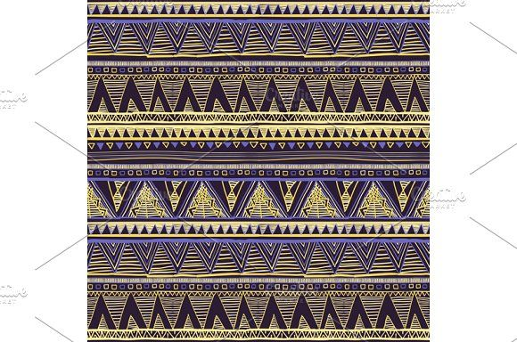 Seamless Ethnic Geometric Pattern by Rommeo79 on @creativemarket