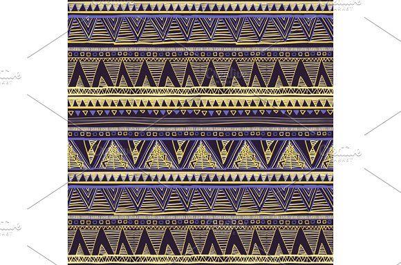 Seamless Ethnic Geometric Pattern by Rommeo79 on @creativemarket