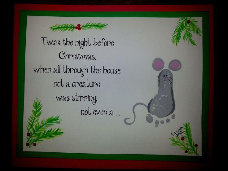 Het was de nacht voor Kerstmis Toen alles stil was in huis Je hoorde helemaal niks Zelfs geen muis