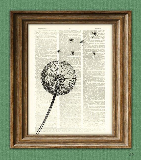 Löwenzahn Blume Fallschirm Samen in den Wind von collageOrama
