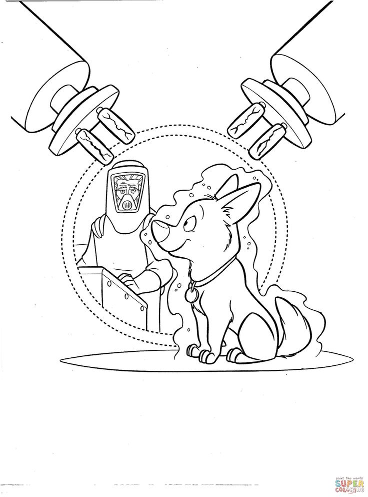 Bolt Coloring Pages For Kids