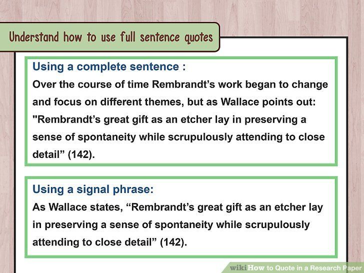 How To Quote In A Research Paper With Examples Wikihow Be An Example Quotes Being There For Someone Quotes Picture Quotes