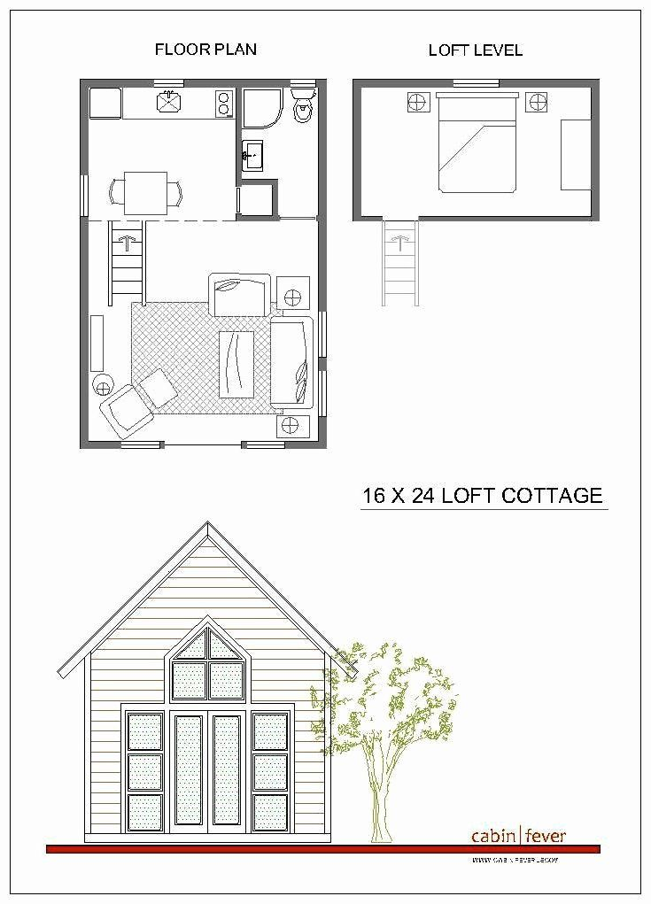 16 X 24 House Plans Beautiful 16x24 Loft Cottage Cabin Fever Floor Plan Idea In 2020 Small Cabin Designs Cabin Plans With Loft Small Cabin