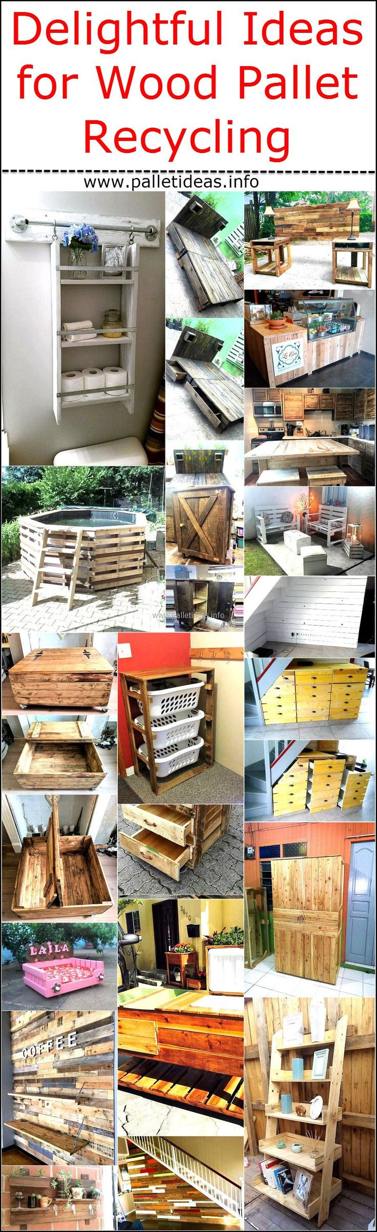 There are some people who have placed most of the furniture in their home made up of wood pallets while there are also some individuals who don't have any idea of how they use the wooden pallets, but it's interesting to know how they can reshape the wooden pallets to turn them into the items they can use at home. So, it's a bad idea to throw away the wooden pallets and it is wise to create furniture or decorative items with them just like the pallet wall art that makes the area look unique.