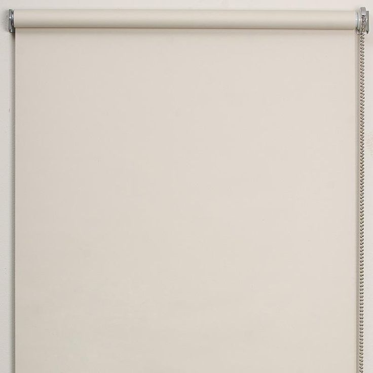 Sentosa Roller Blind  BLOCKOUT plain roller blind with satin chrome bottom rail & chain. Available in 3 colours. 220cm drop.