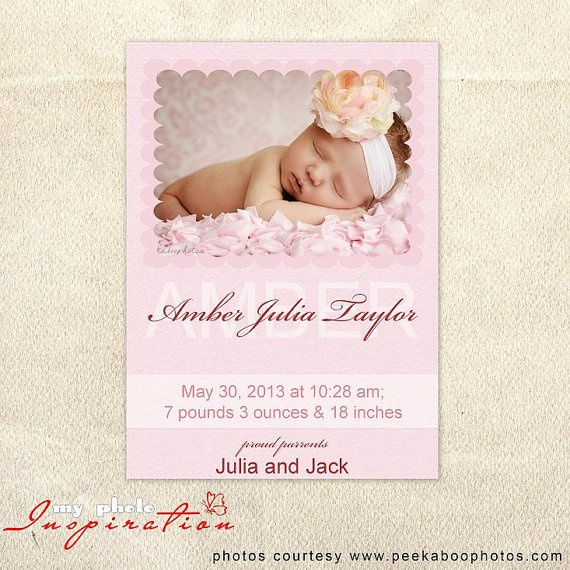 26 best Birth Announcements images on Pinterest Templates, Cards - announcement template