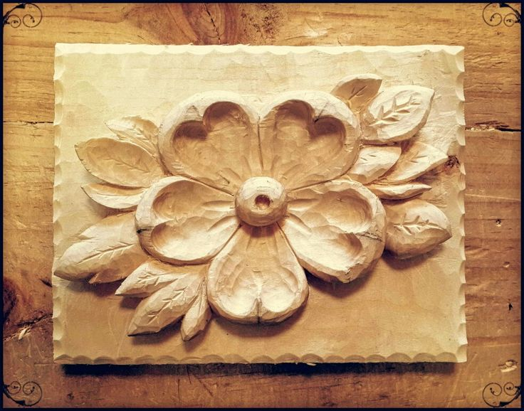 Flor tallamadera ahşap oyma wood carving