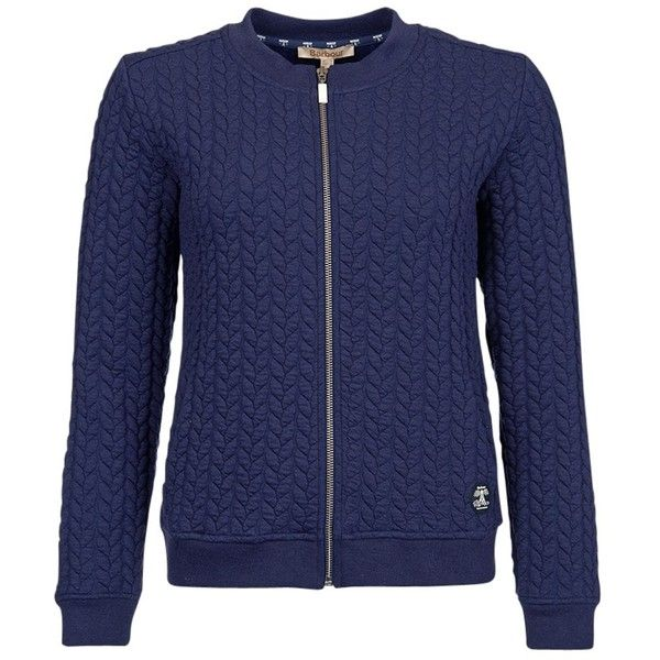 Barbour Hackamore Bomber Jacket , Naval Blue ($125) ❤ liked on Polyvore featuring outerwear, jackets, naval blue, pocket jacket, zip jacket, bomber jacket, blue jackets and zipper jacket