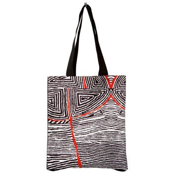 Lovely Canvas Tote Bag With Unique Aboriginal Artwork A Great Gift Or An Eco Friendly