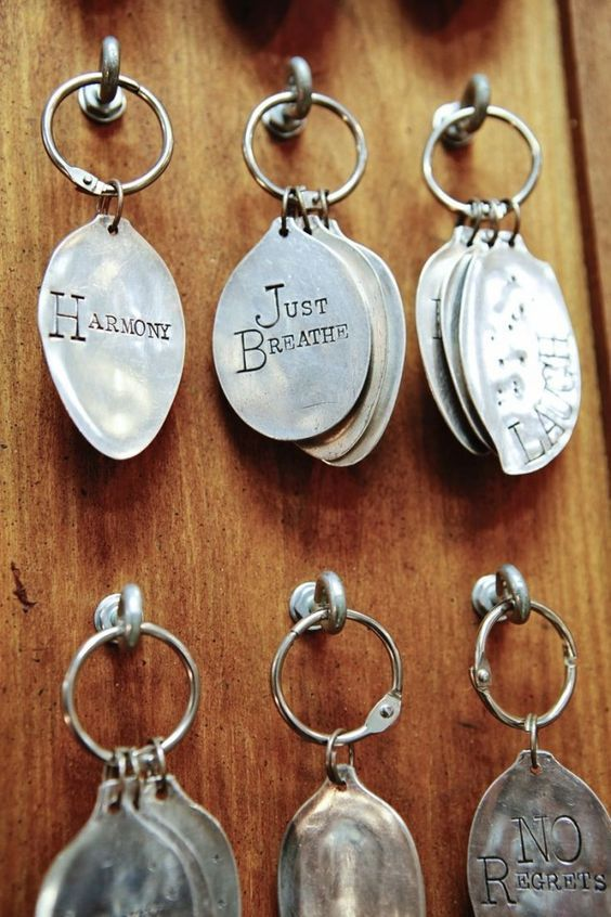 DIY: Re purposed Vintage Silverware Projects something to use the leftover spoon parts when you make spoon rings: