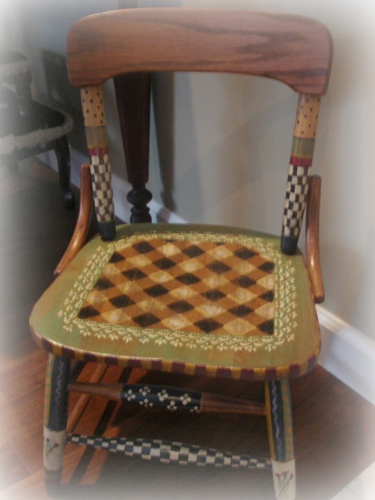 Forever Decorating!: Hand Painted Child's Chair