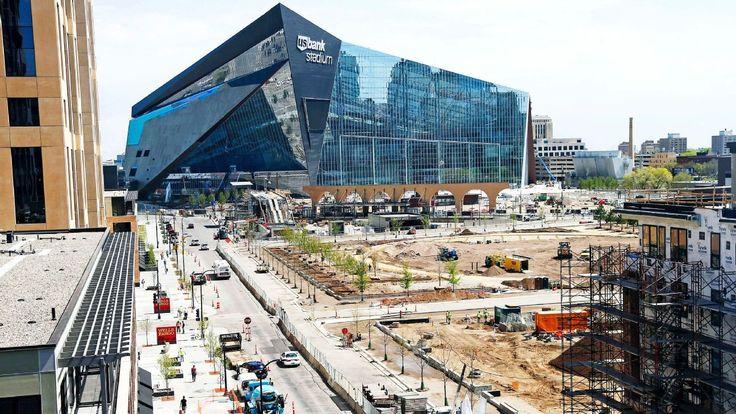 U.S. Bank Stadium light testing results in dazzling display - NFL Nation-  ESPN