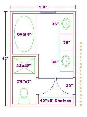 17 best Master bathroom floor plans images on Pinterest | Bathrooms Square Bathroom Design Plans on square apartment plans, square kitchen plans, square house plans,