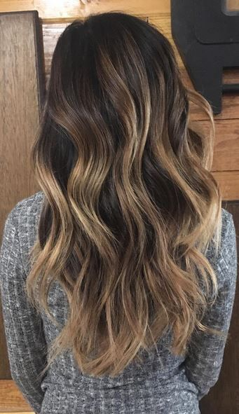 Coffee With Cream Brunette (Mane Interest). Balayage Dark