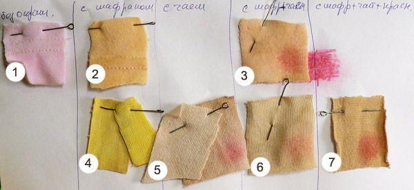 Домашнее окрашивание материалов для кожи и волос текстильных кукол