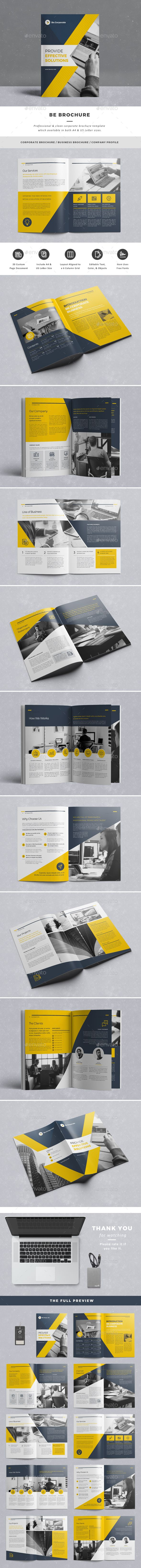 Be Brochure - Corporate Brochures